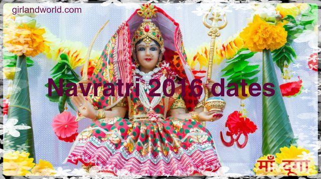 Navratri dates 2016