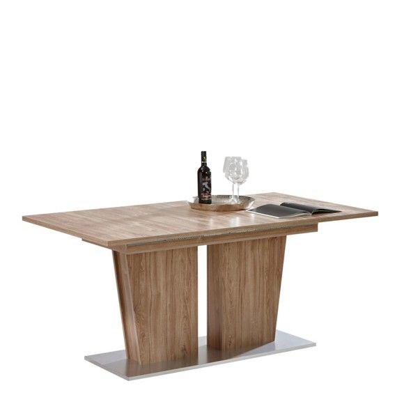 Výsuvný jídelní stůl v moderním designu: přírosní elegance barvy dubu