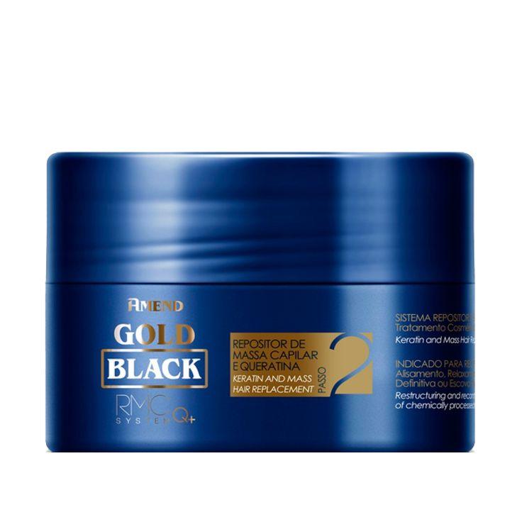 Mascara Amend Gold Black Repositor De Massa 300G Perfumaria on line GOYA