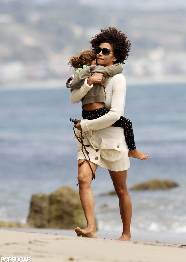 Halle Berry and Nahla Aubry Beach Pictures