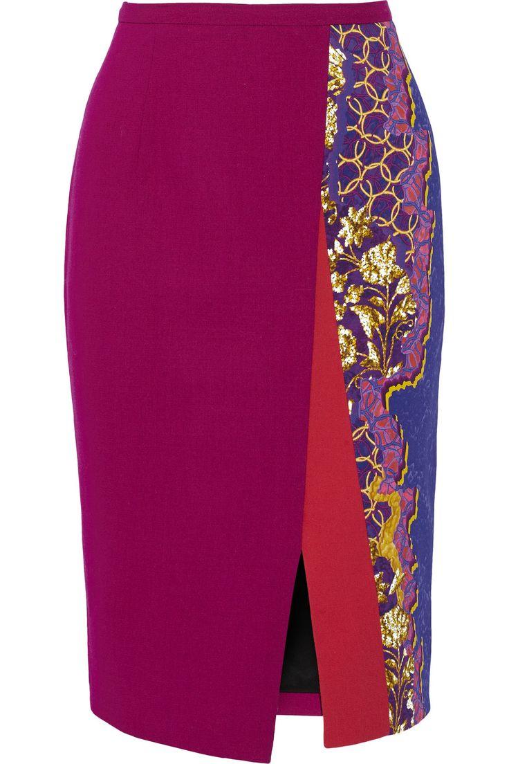 PETER PILOTTO Ria Printed Stretch-Cady Pencil Skirt. #peterpilotto #cloth #skirt