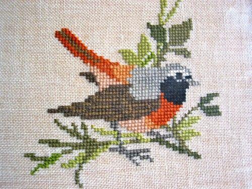 Bird, needlepoint, handmade, $18