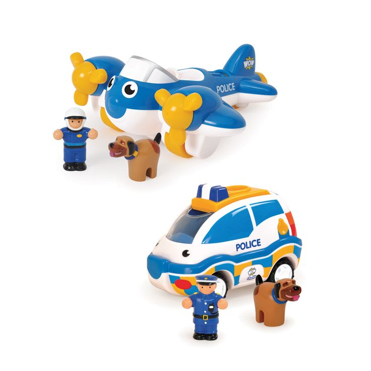 Coffret 2 véhicules de police