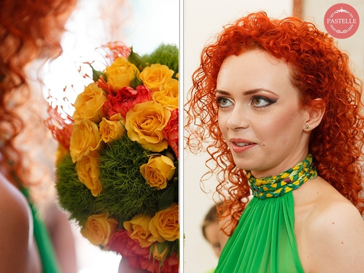 a colorful ruffled wedding bouquet - inspiring and extravagant  Event planning & decorations. Contact: ilinca@pastelle.ro https://www.facebook.com/PastelleEvents