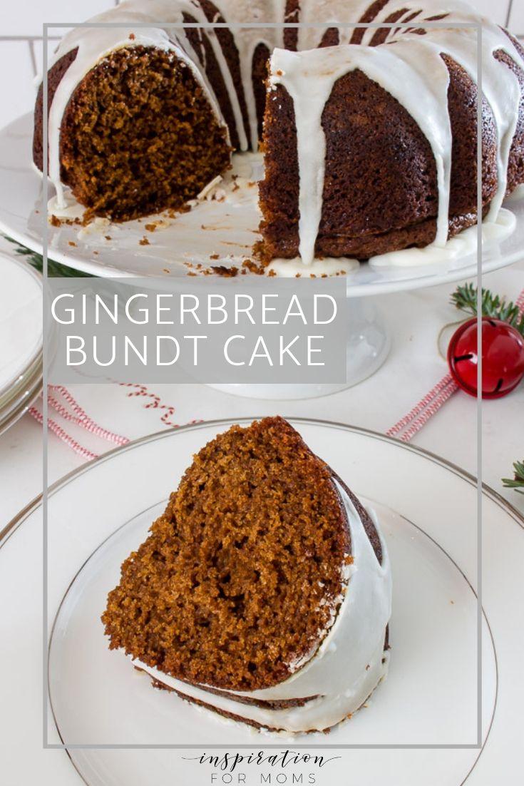 Gingerbread bundt cake with eggnog glaze recipe food