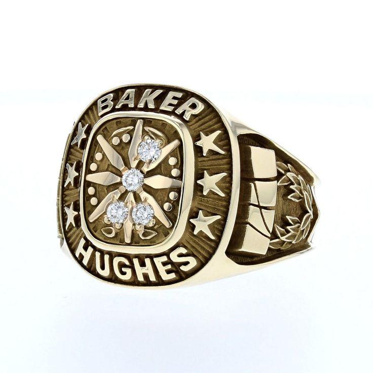 10K Baker Hughes 4 Diamond Service Award Ring - Men's #ClassSchool
