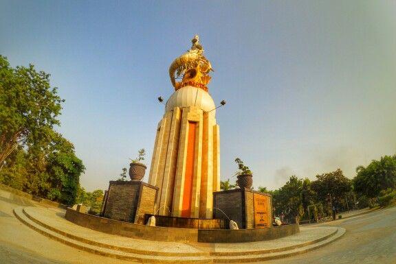 Monument Jayandaru, Sidoarjo with xiaomi yi cam