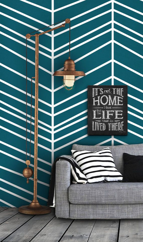 couch wall? Herringbone Pattern Self Adhesive Vinyl Wallpaper D098 by Livettes, $34.00