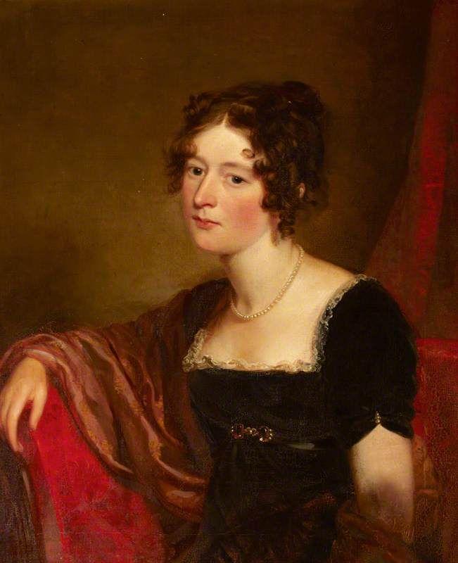 Portrait of Frances Wyndham, Lady Burrell, Ramsay Richard Reinagle, oil on canvas, 1810.: