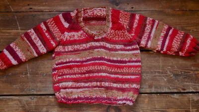 Hand Knitted Jumper 15.00 A lovely hand knitted jumper from our selection of vintage clothes for kids. Wear oversized for a casual look and then get years of use growing into it!  Age 4 years +  Customise with some of our kids accessories