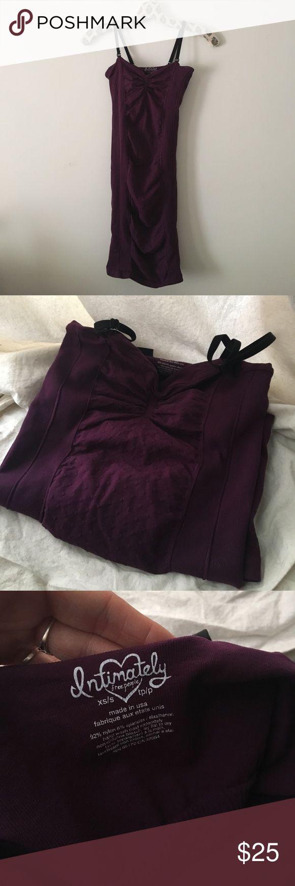 Sexy purple body con slip NWOT Free People purple body con slip. Xs/s, removable straps. Free People Dresses