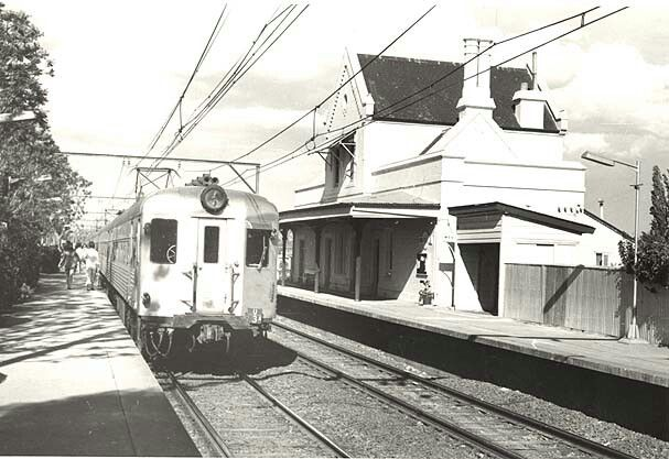 Emu Plains Railway Station, at the foot of the Blue Mountains, NSW ca.1971. v@e