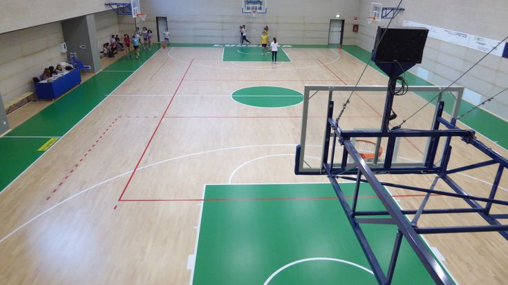 Among the supplies of Dalla Riva Sportfloors to the Bergamo high school structure there are also gaming baskets