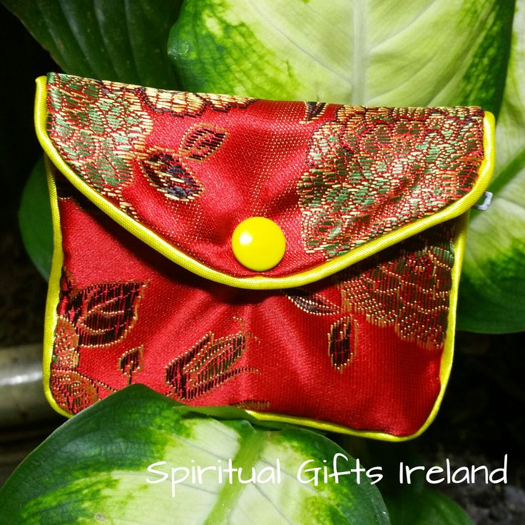 Handcrafted Satin Purse Red - Spiritual Gifts Ireland. These gorgeous handmade satin purses are perfect for storing all your crystals and gems. Available in turquoise, gold and red. The inner zipped compartment makes them super safe for travel. Size: 83mm x 68mm Available in 3 colours: Turquoise, Red, Gold. Shop now at : www.spiritualgiftsireland.com Follow us on Facebook www.facebook.com/spiritualgiftsireland www.instagram.com/ spiritualgiftsireland www.etsy.com/shop/spiritualgiftireland