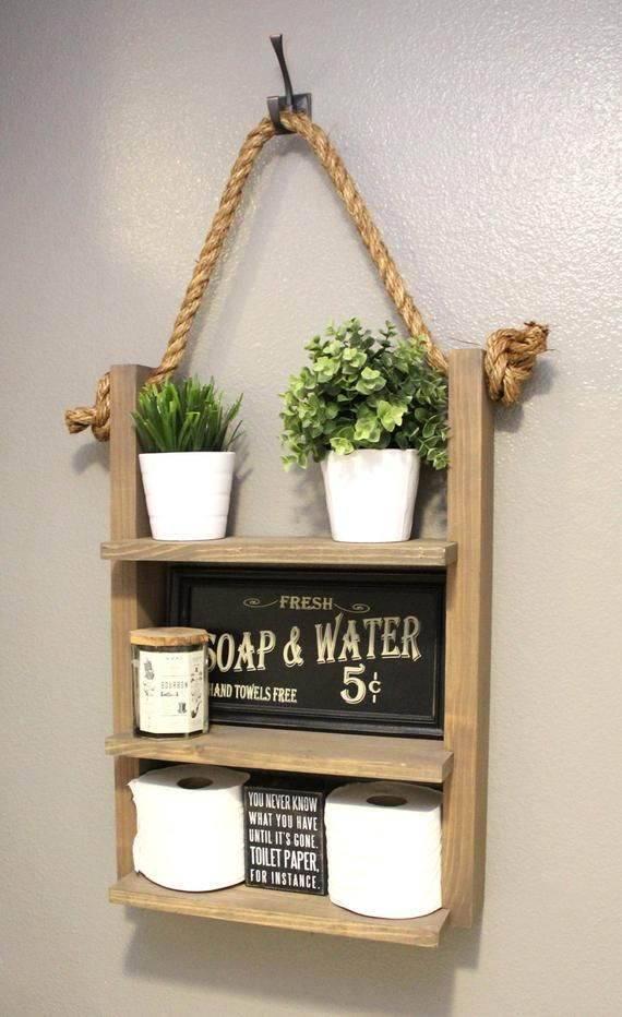 Farmhouse Furniture Bathroom Shelf Organizer Ladder Storage | Etsy – estantería