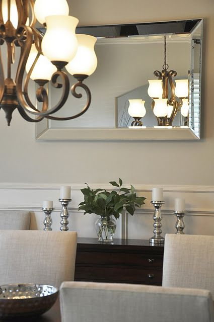 Reflection Wall Mirror above @Megan {Honey We're Home} dining room buffet. http://inv.lv/rJuha1