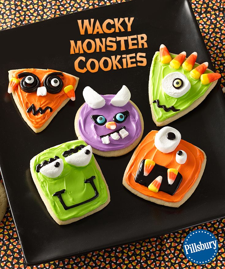 a fun halloween activity for the whole family decorate these wacky monster cookies with your