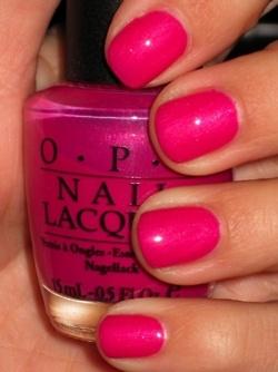 : Nail Polish, Opi, Makeup, Summer Color, Hot Pink, New York Fashion, Nails