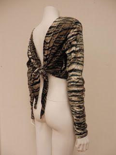 So many ways to wear it! Trinity Tiger Top Back.