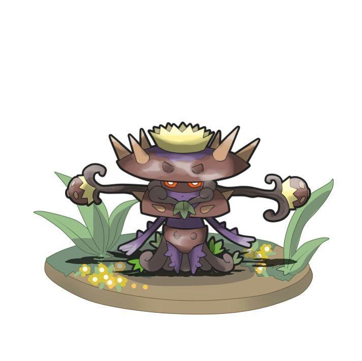 Conozcan a..PANTAPUA de tipo Planta/Veneno. Es la evolución de Durupua a partir del nivel 27+1 siempre y cuando se encuentre Flosper en el equipo. Debido a que estos pokémon conviven juntos mucho tiempo parte de las raíces de Flosper se adhieren al cuerpo de Pantapua, las cuales, siguen creciendo aunque Pantapua no posee la misma movilidad que Flosper. Este pokémon deja parte de su armadura para poder ganar más velocidad. Con el resto de su armadura crea un estilo de laza con la cu...