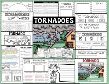 Tornadoes are natural disasters that are important for students to learn about. Students will research and learn about tornadoes by using graphic organizers, reading and using text evidence, learning new vocabulary, and writing important information and safety tips.