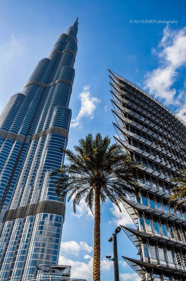 view of the tallest building in the world, Burj Dubai, UAE