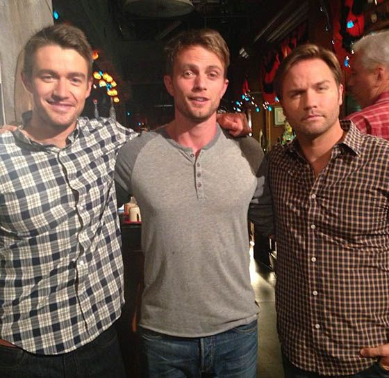 """One Tree Hill"" alum Robert Buckley has already reported for duty on set of ""Hart of Dixie."" Check out the first look photo of him, Scott Porter, and Wilson Bethel here."