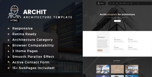 awesome Archit - Architecture, Interior and Renovation Template (Enterprise)
