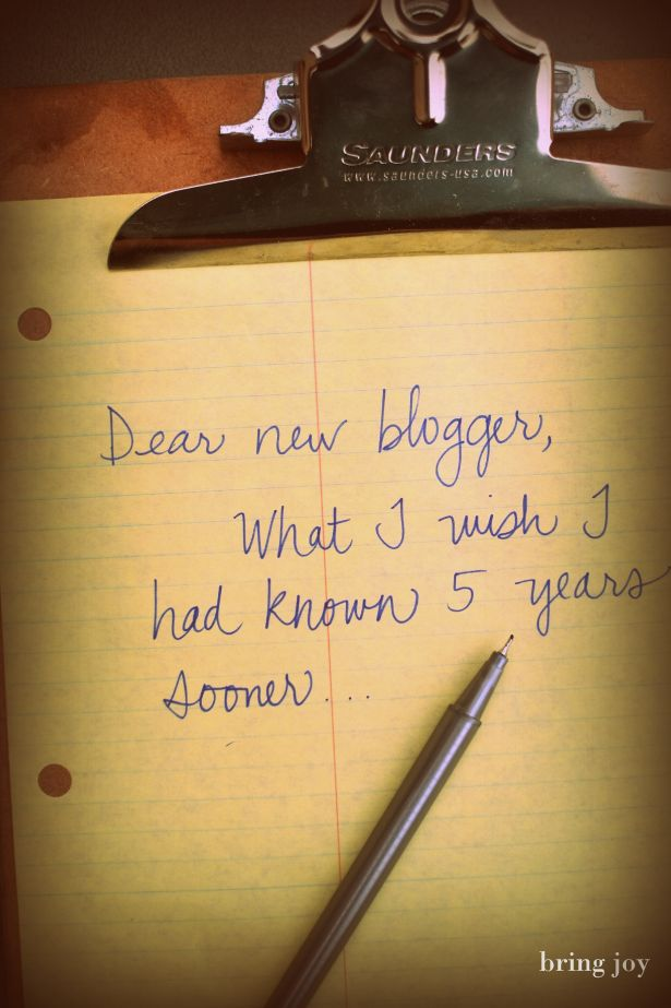 blogging: 13 things I wish I'd known sooner