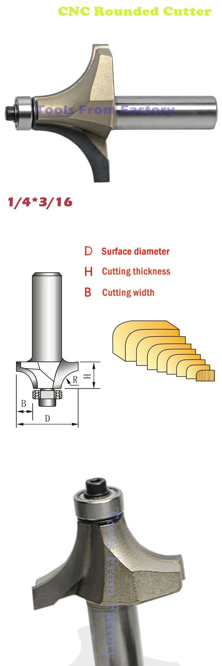 [Visit to Buy] 1pc woodworking cutter CNC Rounded cutter CNC Router Bits trimmer cutter 1 / 4 wood Shank gongs cutter YJD1/4*3/16 #Advertisement
