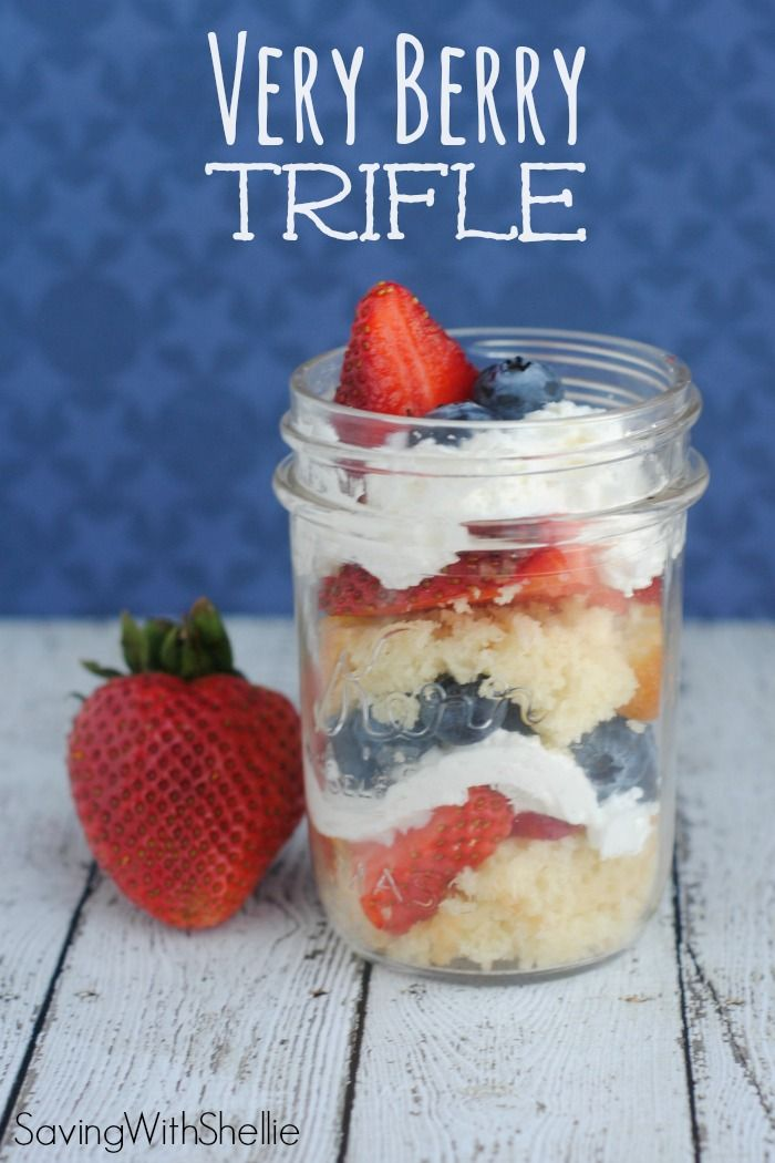 This Very Berry Trifle recipe is perfect for Memorial Day, Fourth of July or any summertime barbecue!