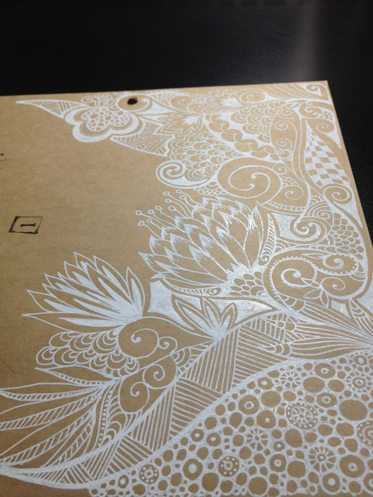 59 best ideas for printing on kraft images on pinterest gift zentangles white pen doodles on browncoloured paper malvernweather Choice Image
