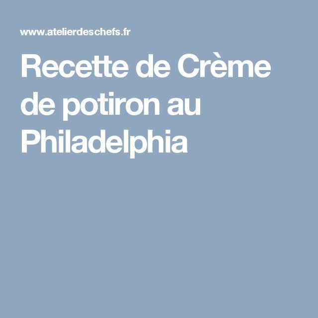 Recette de Crème de potiron au Philadelphia