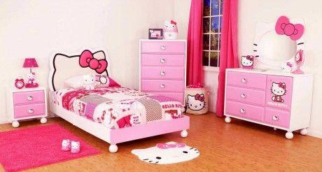 dipan tempat tidur anak perempuan, tempat tidur anak hello kitty