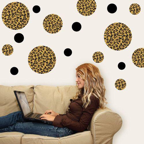 Leopard Print Dots Wall Decals Removable u0026 by WallDressedUp $36.00 & 16 best Cheetah Print Wall Decals images on Pinterest | Leopard wall ...
