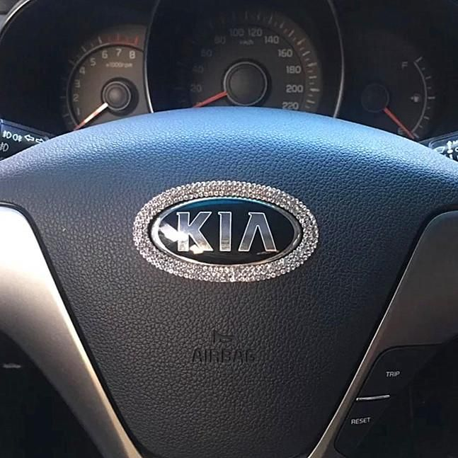 Kia Bling Emblem For Steering Wheel Logo Sticker Decal Bling