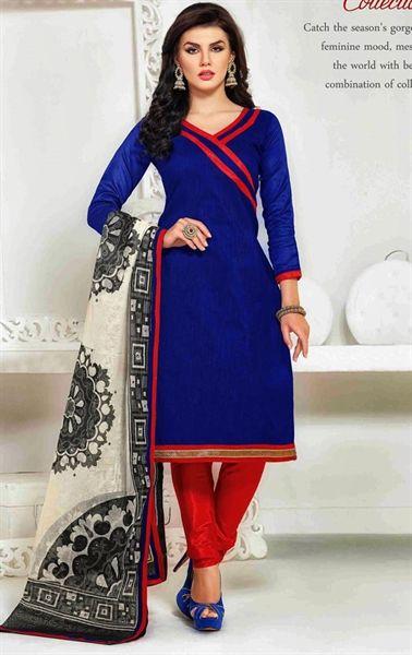 Picture of Magnificient Blue Color Indian Salwar Kameez