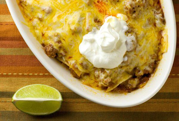Beef Enchilada Casserole: Casseroles Recipes, Beef Recipes, Beef Chicken Enchiladas, Maine Dishes, Yummy Food, Ground Beef Tacos, Corn Tortillas, Enchiladas Casseroles, Beef Enchiladas