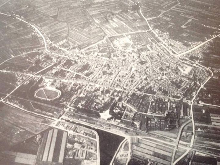 1916: Aerial view of Ravenna - Photo by C'era una volta Ravenna on Facebook [ #ravenna #myRavenna]