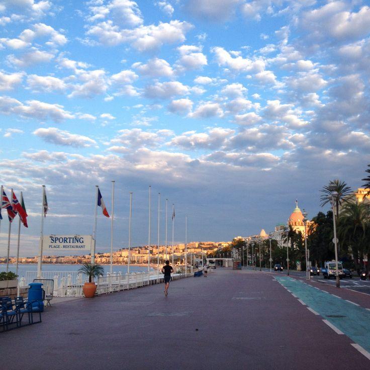 Sunrise (walking west on the Promenade)