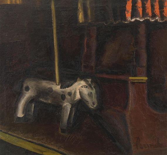 Le Cheval de Carrousel Constant Permeke  Date: 1923  Style: Expressionism  Genre: still life