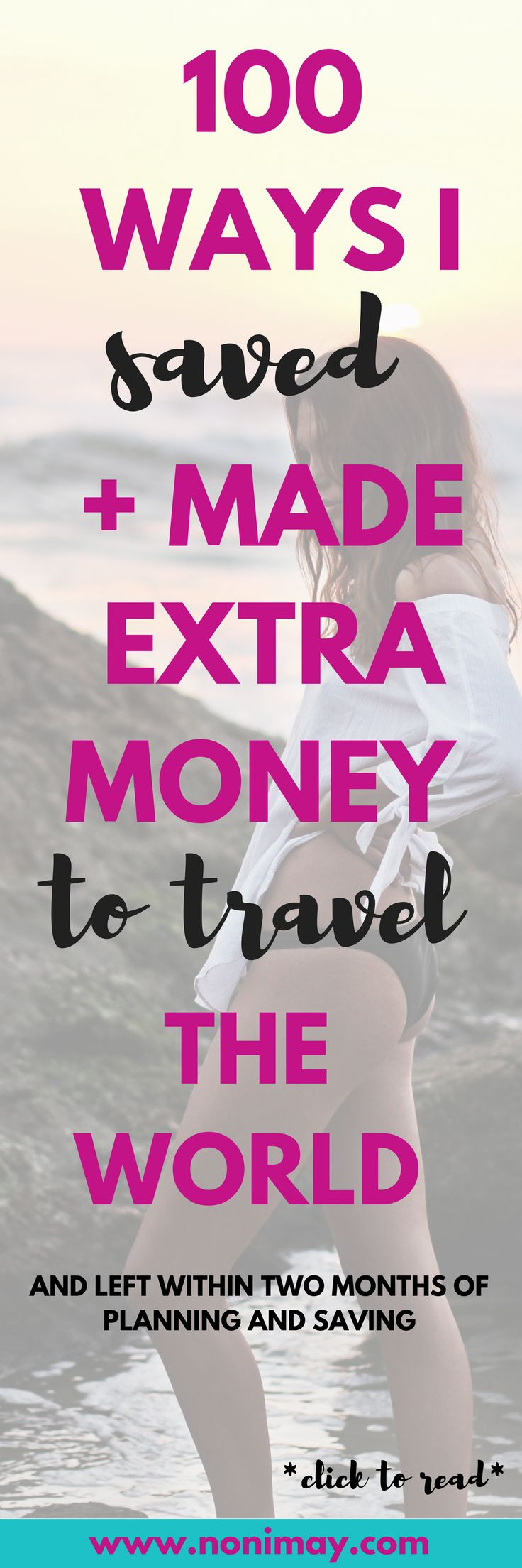 100 ways I saved + made extra money to travel the world