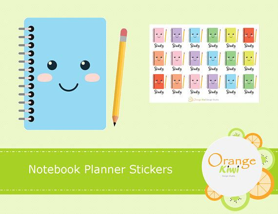 Notebook Stickers, Study Stickers, Back to School Stickers, Exam Stickers, Bujo Study Stickers, Happy Planner, Erin Condren