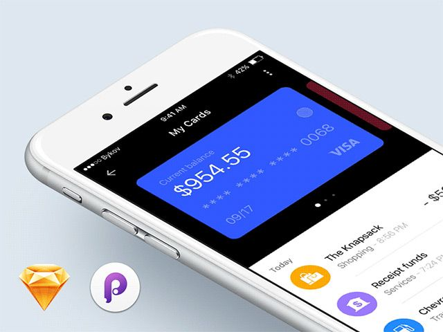 Here is an interesting prototyping experiment by Sergey Bykov: a wallet app concept designed in Sketch, then animated in Principle.