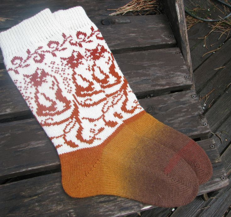 knit socks with cat wool socks knitted socks Scandinavian pattern Norwegian socks Christmas socks gift to man. gift to woman by…