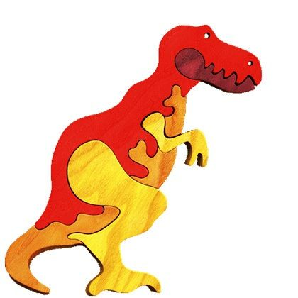 T-Rex - Waldorf wooden puzzle, made by hand of maple wood,no harmful colors and no lacquer