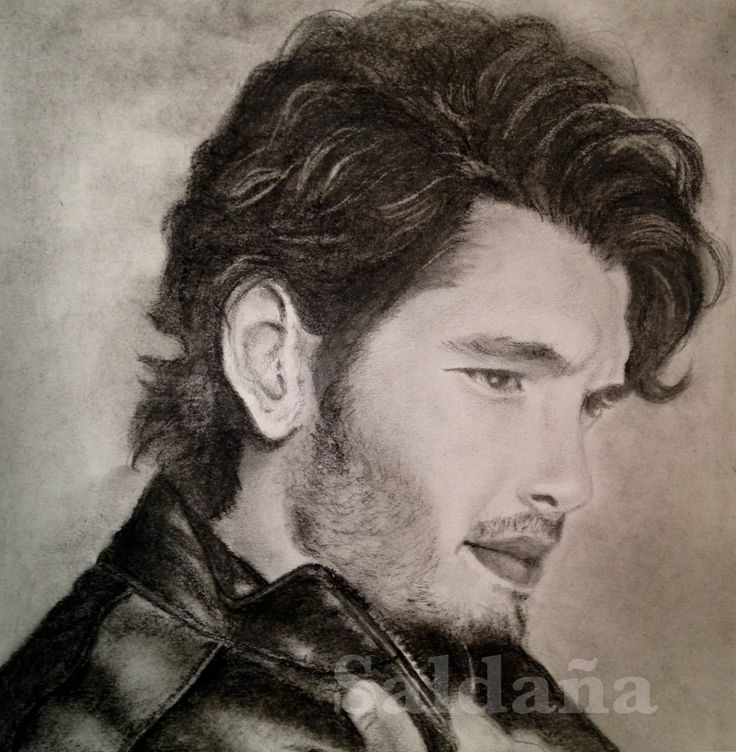 Yon Gonzalez. Charcoal pencil by T Saldana