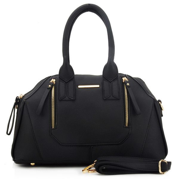 Black  -  Patchwork Zipper Design Handbag Fashion Travel Bag £21.99