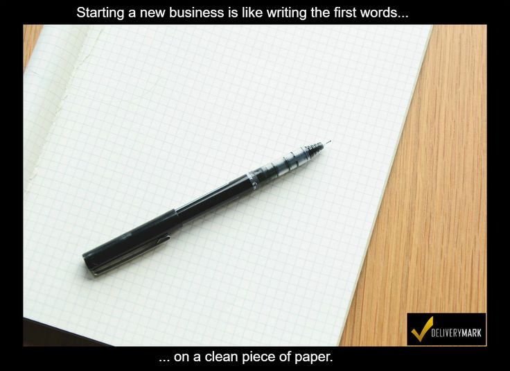 Starting a new business is like writing the first words on a clean piece of paper.    If you are starting a #delivery business (#trucking, #courier, #messenger, #OTR, #hauling, #carrier, #broker, #freight forwarder, #shipper,etc.), the first step to take is sign up for DeliveryMark.   DeliveryMark allows you to create orders, track them, collect signatures, take photos, create a Proof-Of-Delivery document, and more.   Visit http://DeliveryMark.com