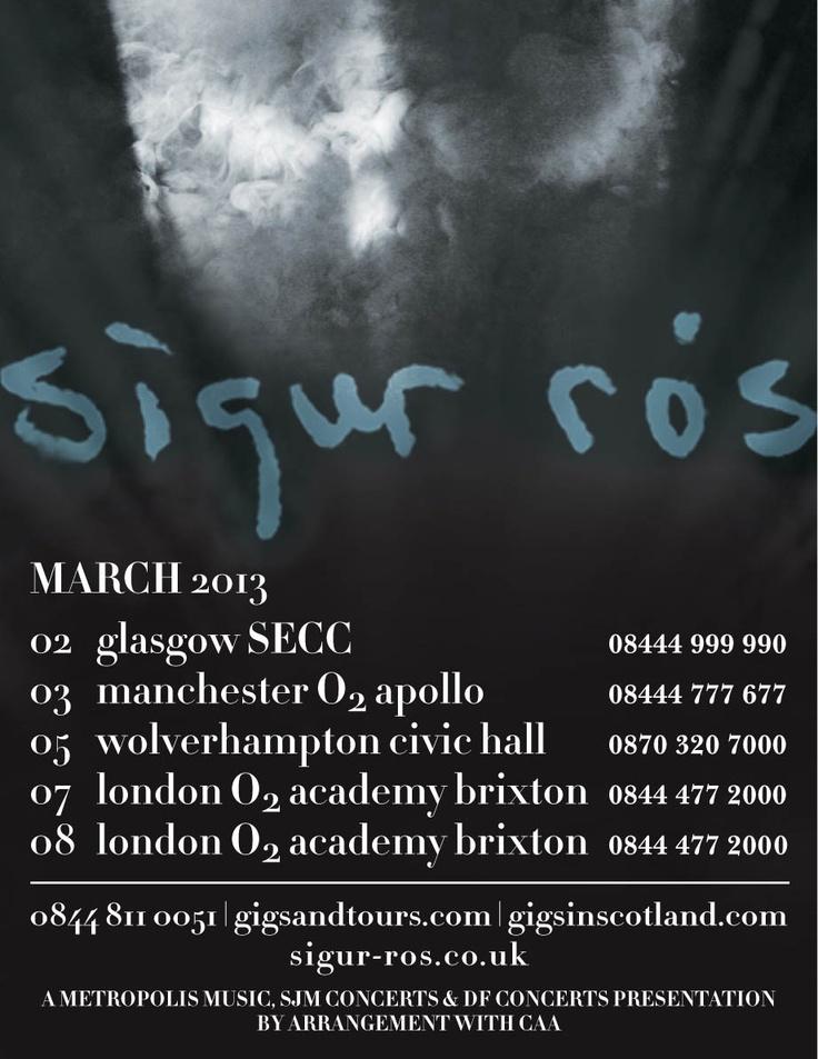 Sigur Ross announce March 2013 dates Wolverhampton